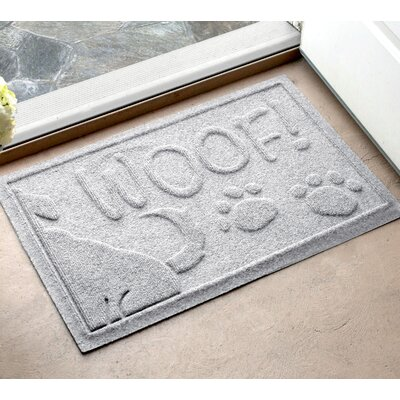 Amald Wag The Dog Doormat Color: White, Mat Size: 16 x 24