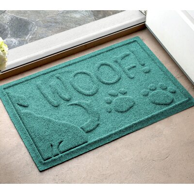 Amald Wag The Dog Doormat Color: Aquamarine, Mat Size: 2 x 3