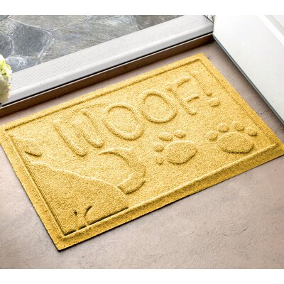Amald Wag The Dog Doormat Color: Gold, Mat Size: 2 x 3