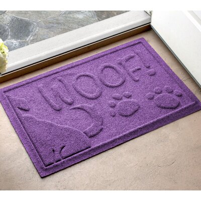 Amald Wag The Dog Doormat Color: Purple, Mat Size: 2 x 3