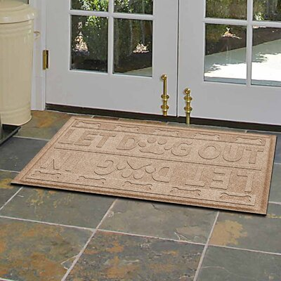 Amald Let Dog In/Out Doormat Color: Camel