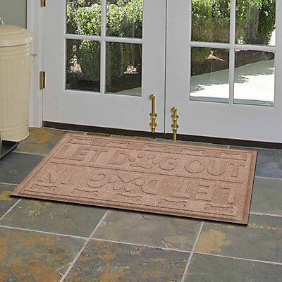 Amald Let Dog In/Out Doormat Color: Medium Brown