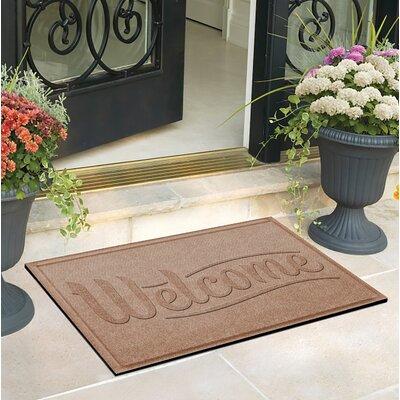 Amald Simple Welcome Doormat Color: Camel