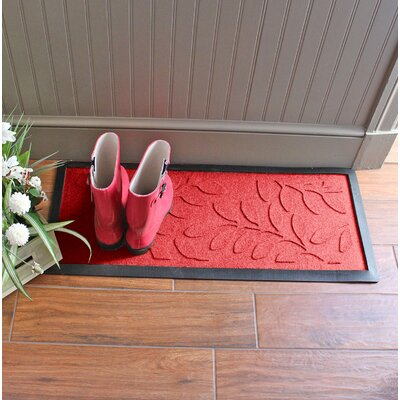 Amald Brittany Leaf Boot Tray Color: Solid Red