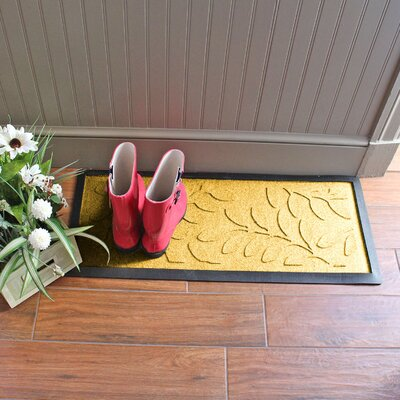 Amald Brittany Leaf Boot Tray Color: Yellow