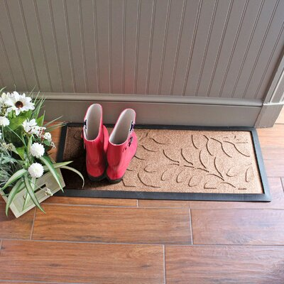 Amald Brittany Leaf Boot Tray Color: Medium Brown