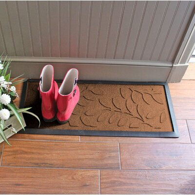 Amald Brittany Leaf Boot Tray Color: Dark Brown