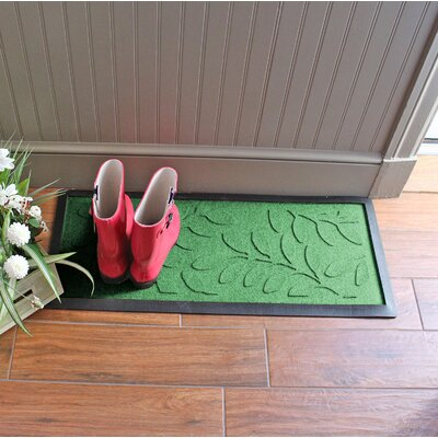Amald Brittany Leaf Boot Tray Color: Light Green