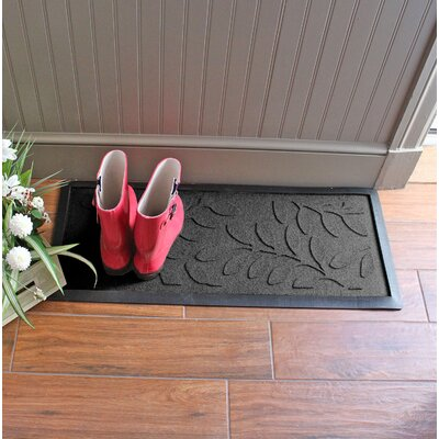 Amald Brittany Leaf Boot Tray Color: Charcoal