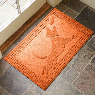 Amald Flying Dog Doormat Color: Orange
