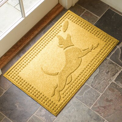 Amald Flying Dog Doormat Color: Yellow