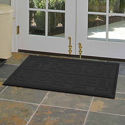 Amald Let Dog In/Out Doormat Color: Charcoal