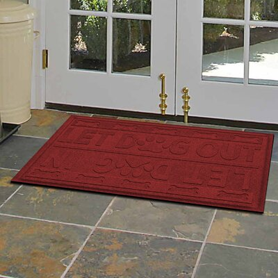 Amald Let Dog In/Out Doormat Color: Red/Black