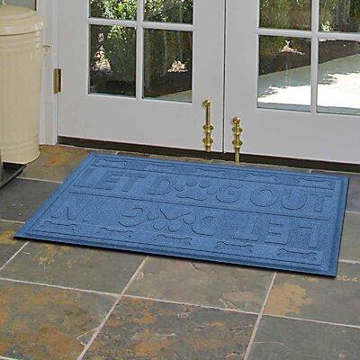 Amald Let Dog In/Out Doormat Color: Medium Blue