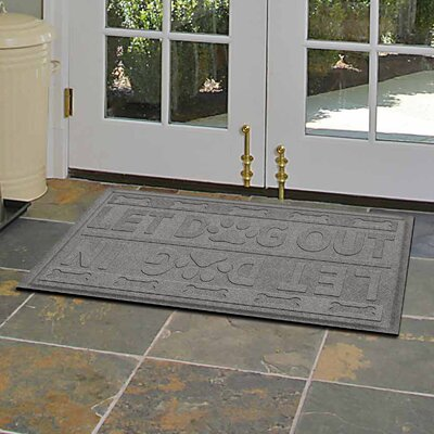Amald Let Dog In/Out Doormat Color: Medium Gray