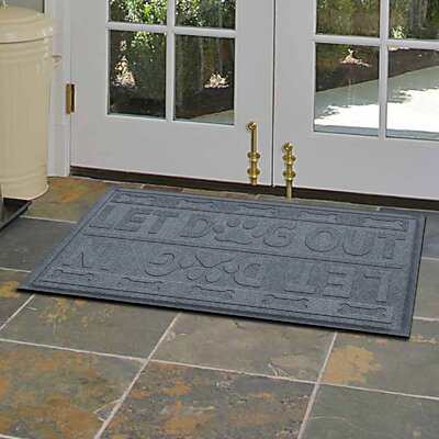 Amald Let Dog In/Out Doormat Color: Bluestone