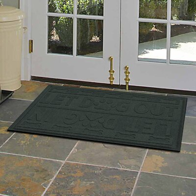 Amald Let Dog In/Out Doormat Color: Evergreen