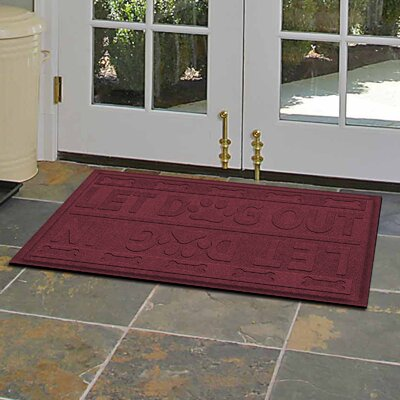 Amald Let Dog In/Out Doormat Color: Bordeaux