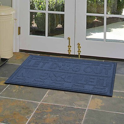 Amald Let Dog In/Out Doormat Color: Navy