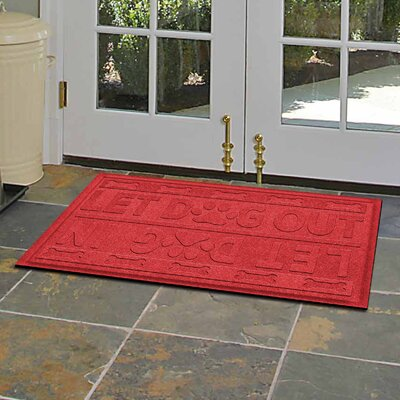 Amald Let Dog In/Out Doormat Color: Solid Red