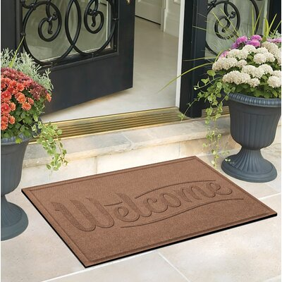 Amald Simple Welcome Doormat Color: Medium Brown