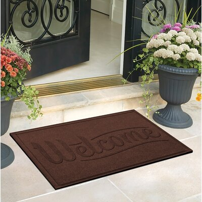 Amald Simple Welcome Doormat Color: Dark Brown