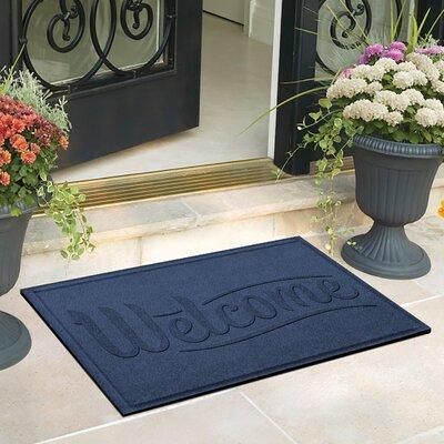 Amald Simple Welcome Doormat Color: Medium Blue