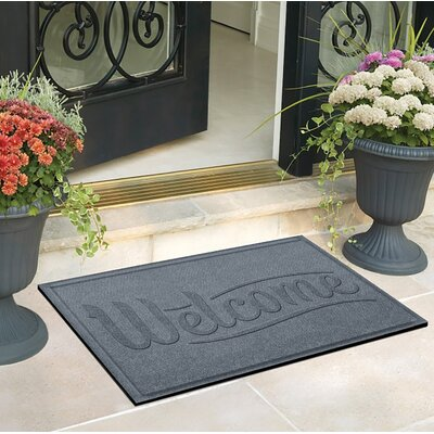 Amald Simple Welcome Doormat Color: Bluestone