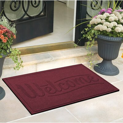 Amald Simple Welcome Doormat Color: Bordeaux