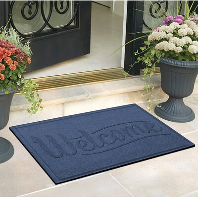 Amald Simple Welcome Doormat Color: Navy
