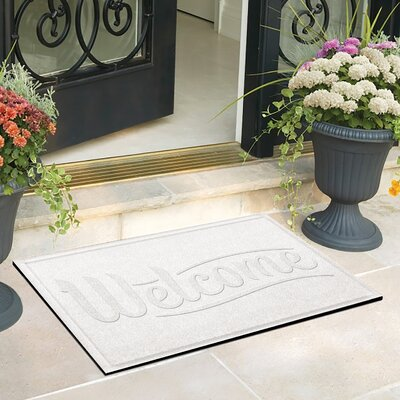 Amald Simple Welcome Doormat Color: White