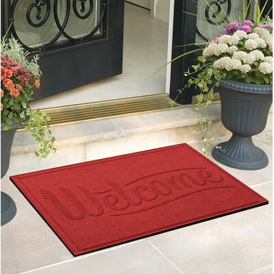 Amald Simple Welcome Doormat Color: Solid Red