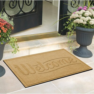 Amald Simple Welcome Doormat Color: Yellow