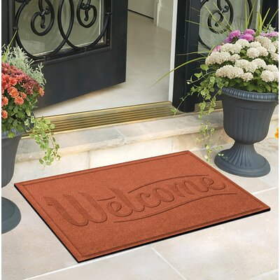 Amald Simple Welcome Doormat Color: Orange
