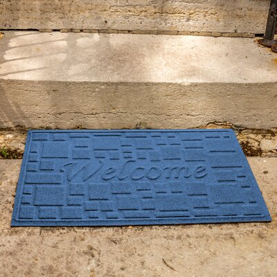 Amald Stone Path Welcome Doormat Color: Medium Blue