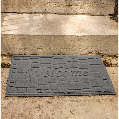 Amald Stone Path Welcome Doormat Color: Medium Gray