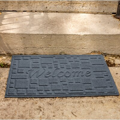 Amald Stone Path Welcome Doormat Color: Bluestone