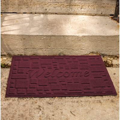 Amald Stone Path Welcome Doormat Color: Bordeaux