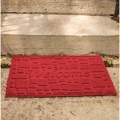 Amald Stone Path Welcome Doormat Color: Solid Red