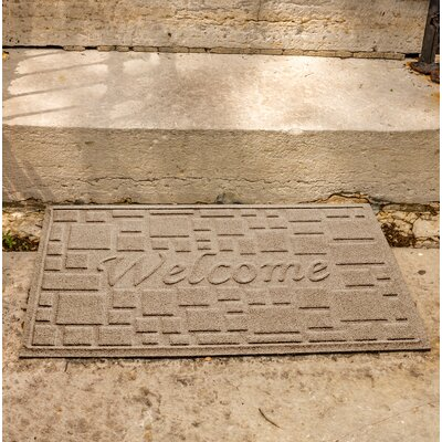 Amald Stone Path Welcome Doormat Color: Camel