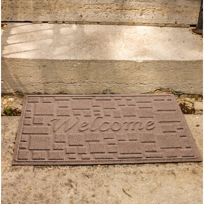 Amald Stone Path Welcome Doormat Color: Medium Brown