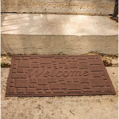 Amald Stone Path Welcome Doormat Color: Dark Brown