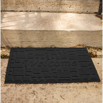 Amald Stone Path Welcome Doormat Color: Charcoal