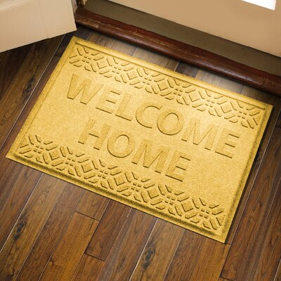 Amald Welcome Home Doormat Color: Yellow