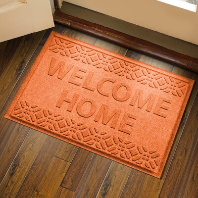 Amald Welcome Home Doormat Color: Orange