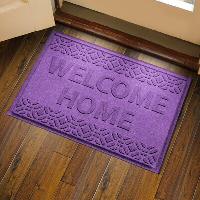 Amald Welcome Home Doormat Color: Purple