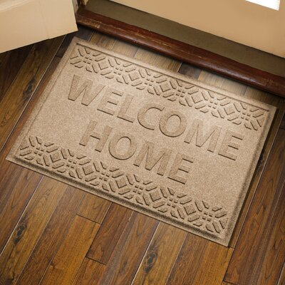 Amald Welcome Home Doormat Color: Camel