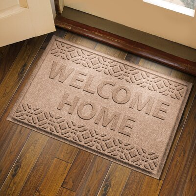 Amald Welcome Home Doormat Color: Medium Brown