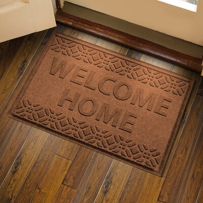 Amald Welcome Home Doormat Color: Dark Brown