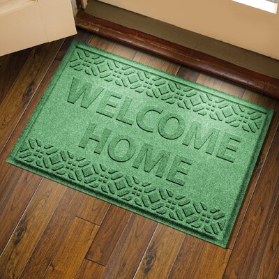 Amald Welcome Home Doormat Color: Light Green